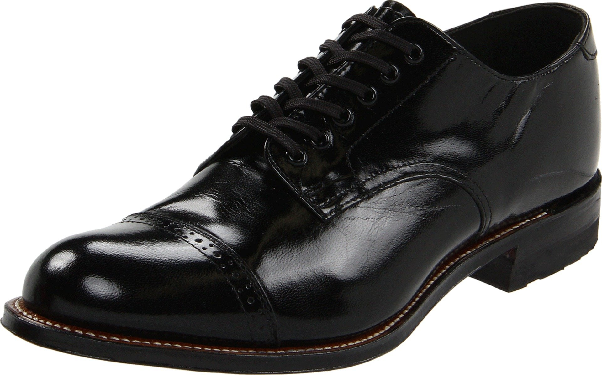 Stacy Adams Men's Madison (Cap Toe) Black Oxford 9.5 E - Wide