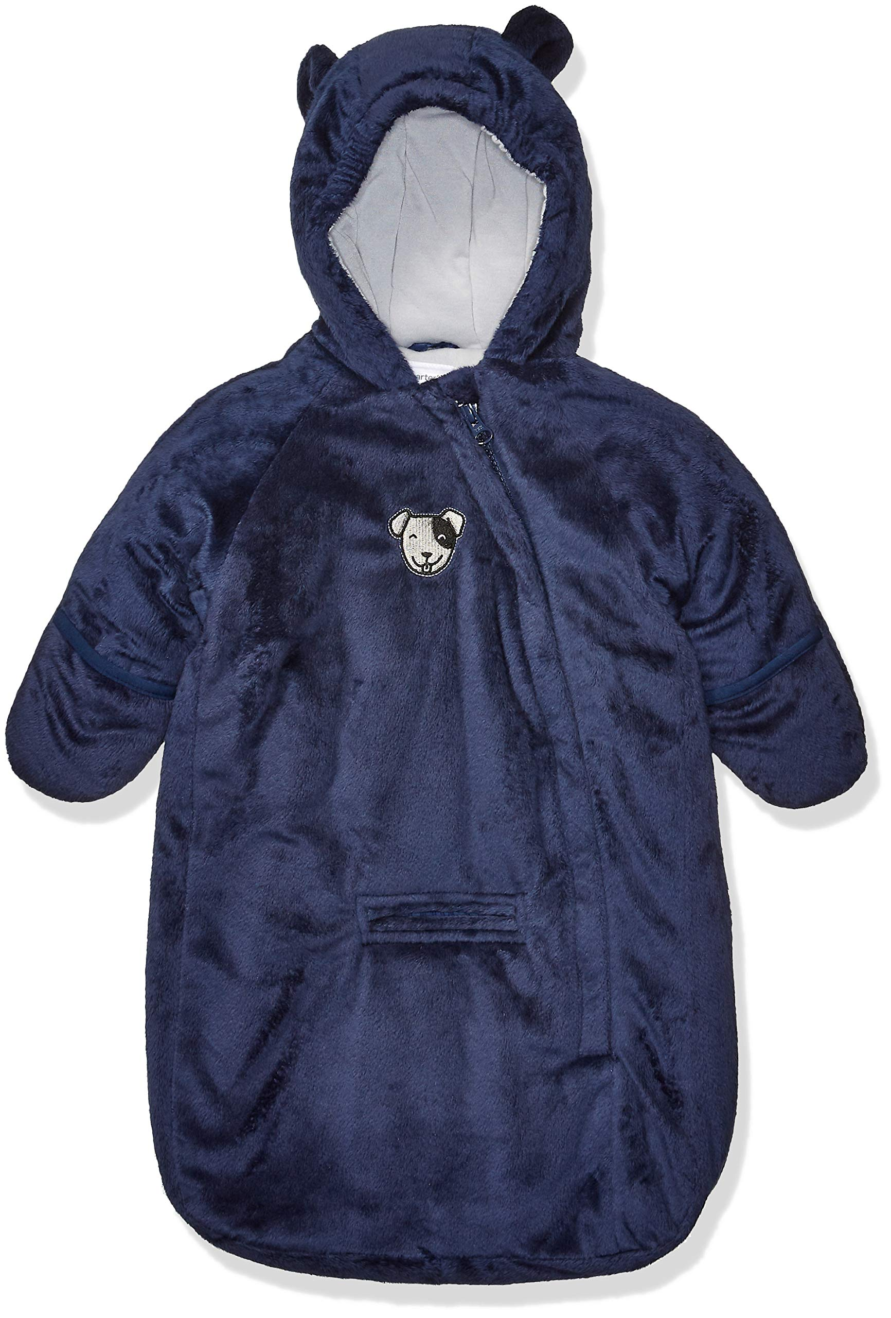 Carter's Baby Girls Bundle Up Cozy Pram with Ears, Navy Dog Bag, 0/6 Months by Carter's