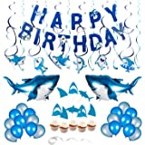 Shark Theme Birthday Party Decorations for Kids Ocean Theme Party Supplies