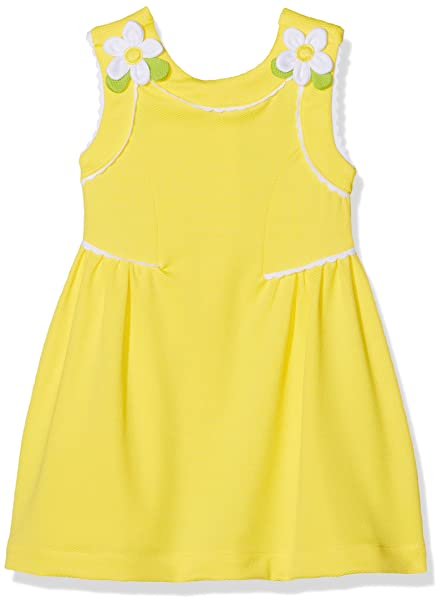 Mayoral 3932, Vestido para Niñas, Amarillo, 5 años (Tamaño del Fabricante: