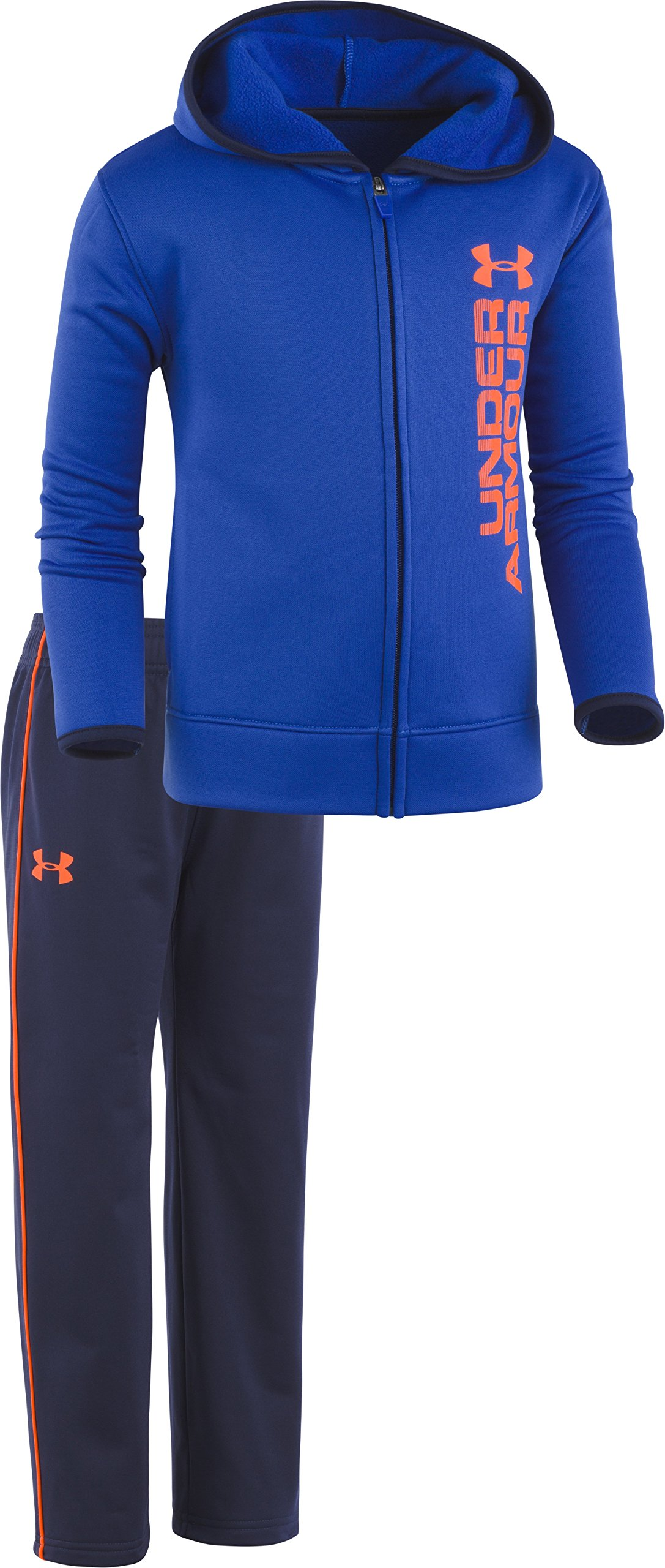 Under Armour Boys' Little Active Hoodie and Pant Set, Royal Blue, 5