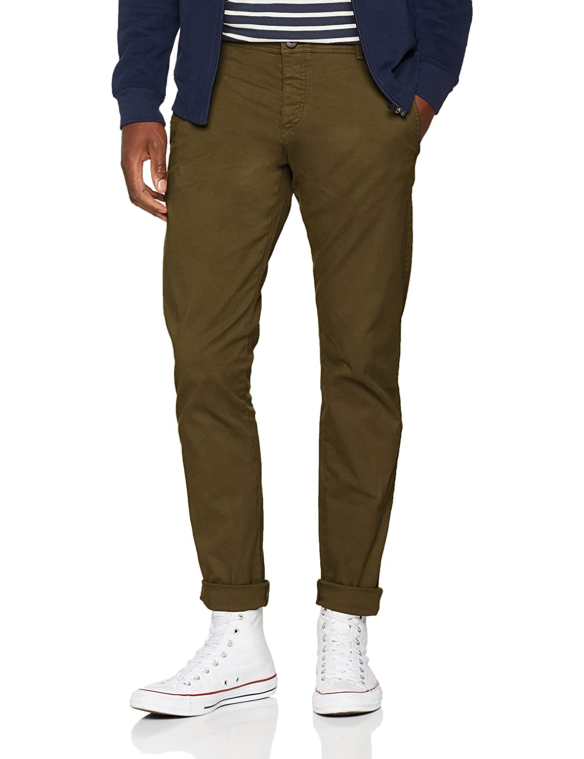 TALLA 36W / 32L. SELECTED HOMME Slhskinny-Luca Olive Night Pants W Noos, Pantalones para Hombre