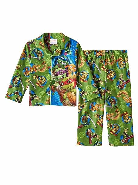 Teenage Mutant Ninja Turtles Toddler Boys Half Shell Heroes Flannel Pajamas 3T