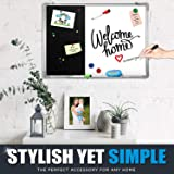Combination Dry Erase Magnetic Whiteboard & Black