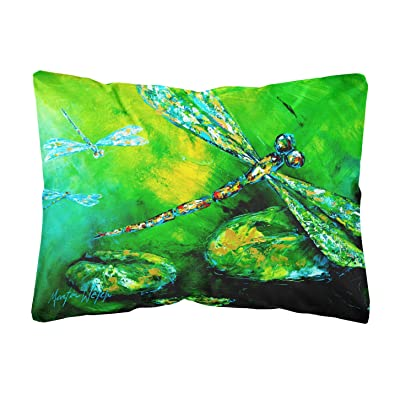 Caroline's Treasures MW1114PW1216 Dragonfly Summer Flies Canvas Fabric Decorative Pillow, 12H x16W, Multicolor : Garden & Outdoor