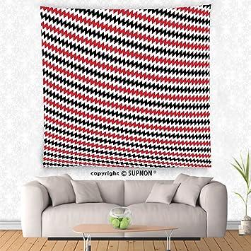 Amazon.com: VROSELV custom tapestry Red and Black Tapestry ...