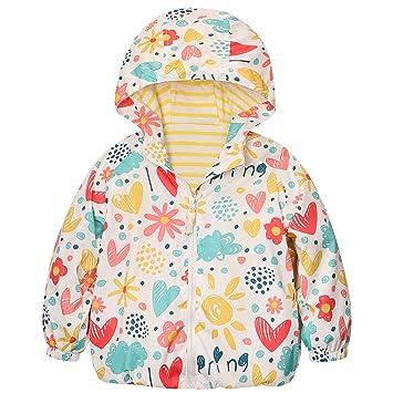 Catawe Kinder Jacke Junge Mädchen Regenjacke Frühling Herbst Winter Windjacke Süßem Pattern Mantel für Körpergröße