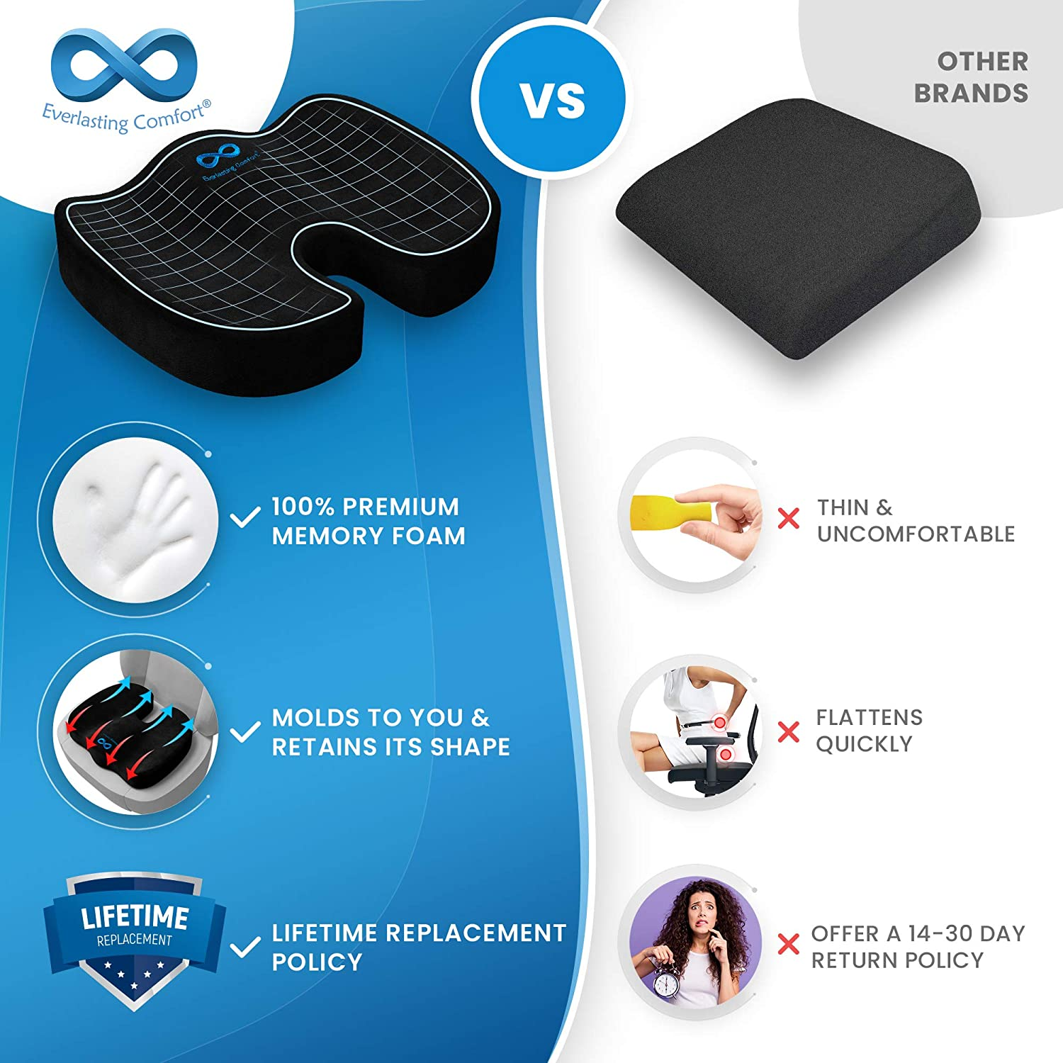 81tVtbFdQAL. SL1500 - What Are The Best Seat Cushion For Buttock Pain That Help You Sit Comfortably - ChairPicks