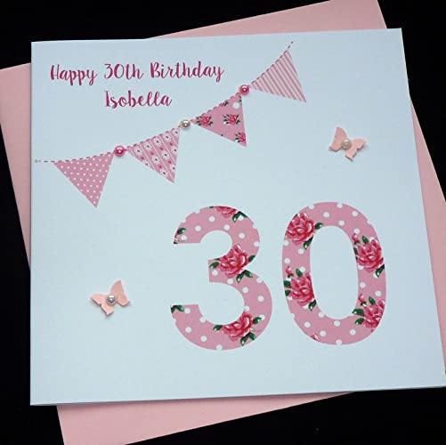 Handmade Personalised Birthday Card 16th 18th 30th 40th 50th 60th