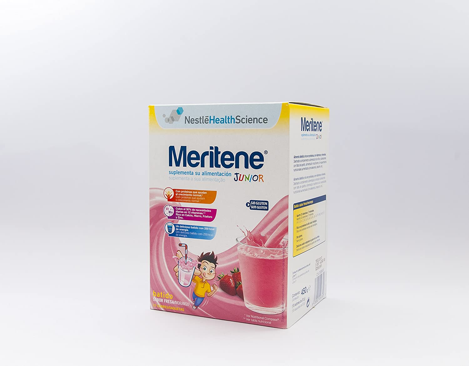 Amazon.com : Meritene Junior Batido Sabor Fresa 15 Sobres : Grocery & Gourmet Food