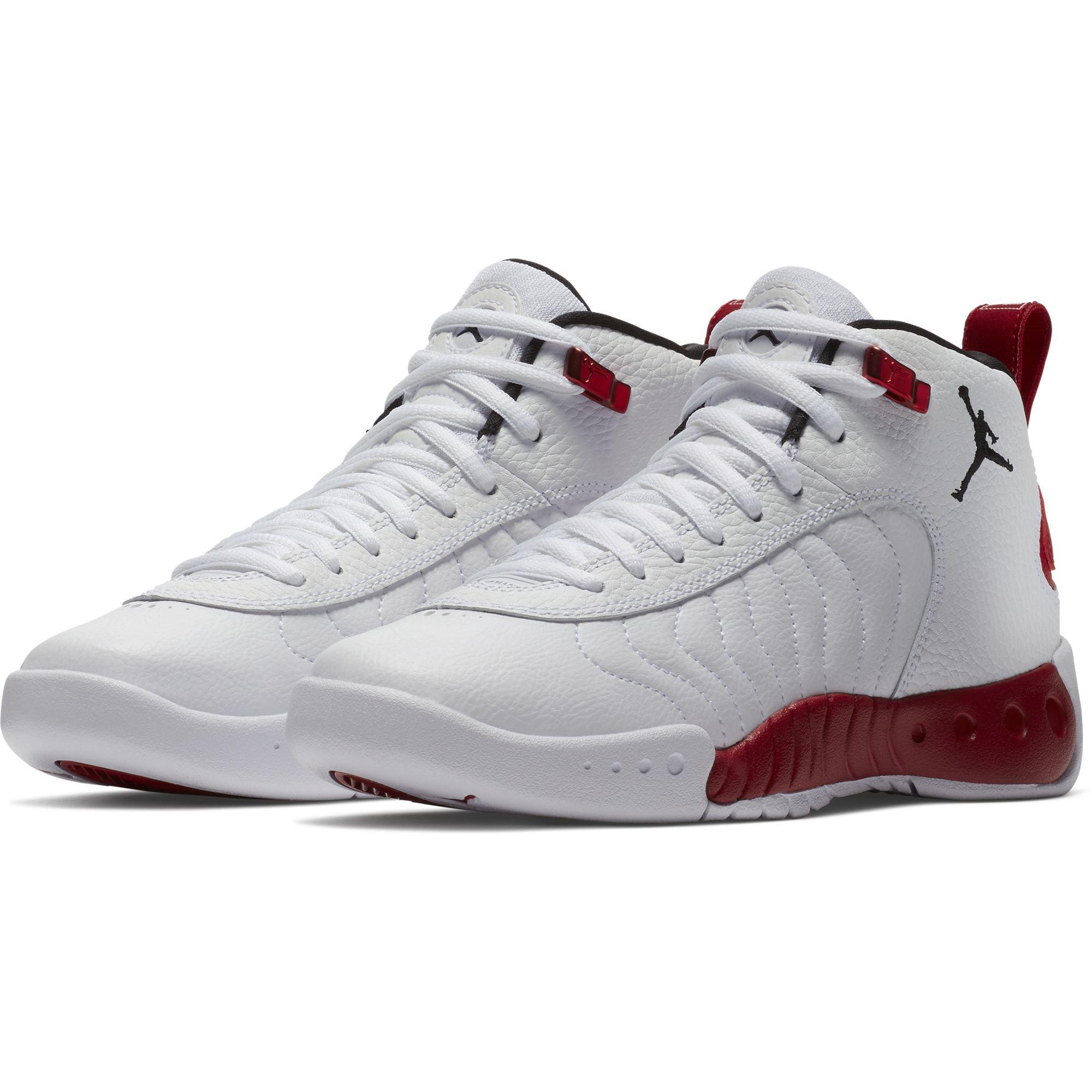 Nike 907973-120 : Jordan Boy's Jumpman Pro Basketball Shoe, White/Black-Gym Red (5 M US Big Kid) by Jordan