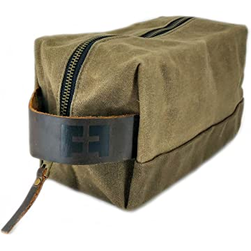 top selling Fat Felt Waxed Cotton Shave Bag