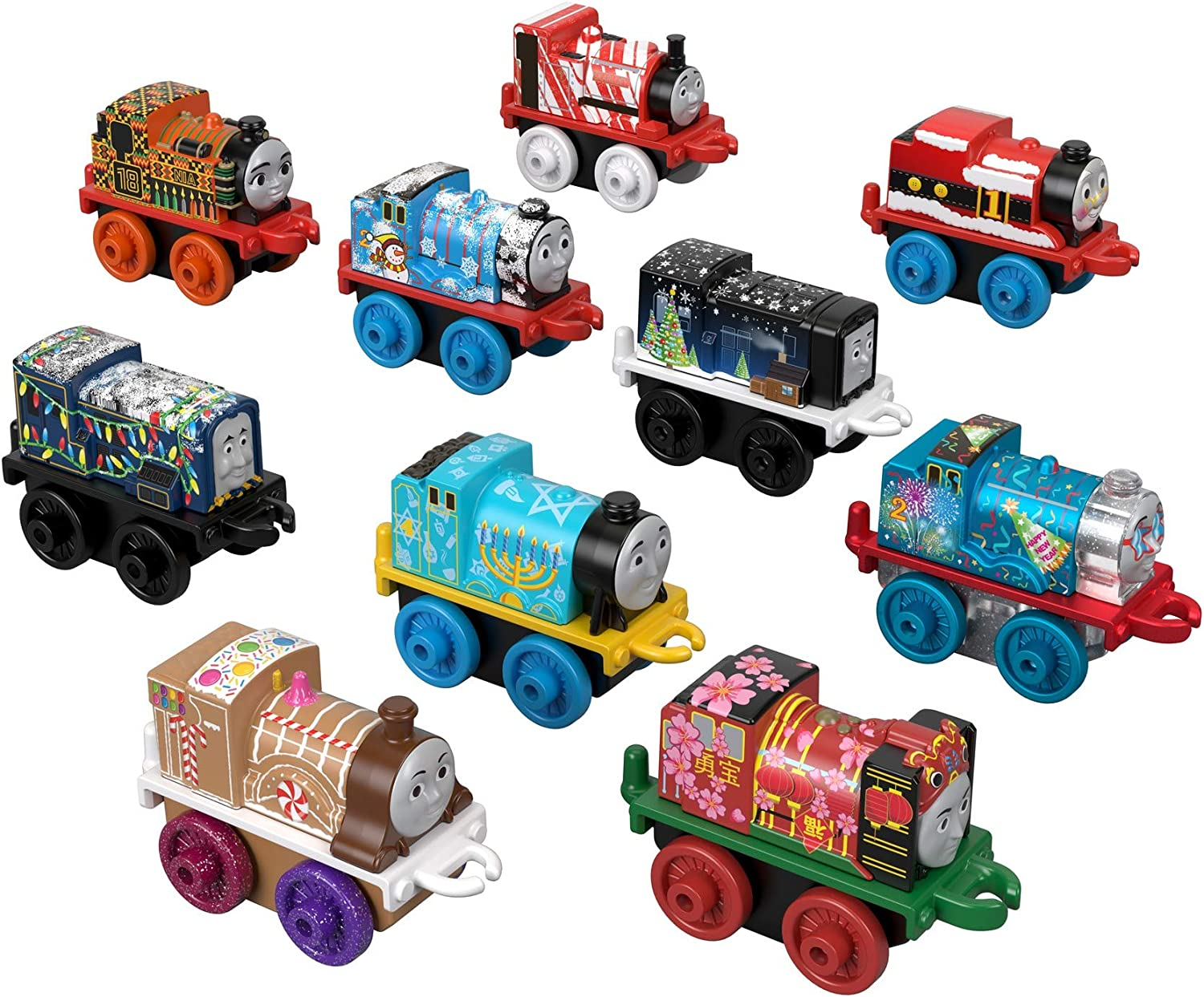 Thomas And Friends Minis 2020 Christmas Minis Amazon.com: Fisher Price Thomas & Friends MINIS Themed, 10 Pack