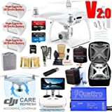 DJI Phantom 4 PRO Plus V2.0 (PRO+ V2) Drone Quadcopter (Remote W/Touch Screen Display) Bundle Kit with DJI Care Refresh Accidental Coverage, 3 Batteries, 4K Camera Gimbal and Must Have Accessories