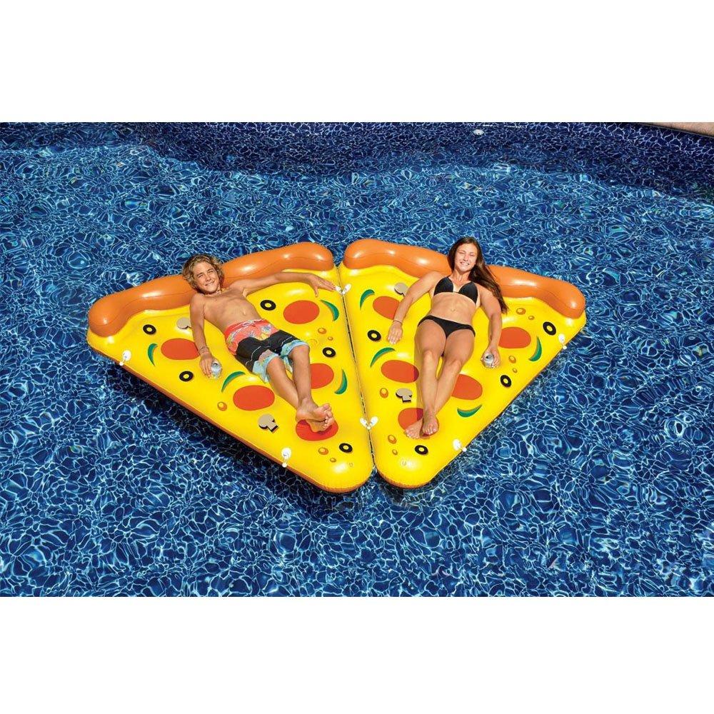 Ancaixin Gigante Colchoneta Flotador Hinchable con forma de Pizza 180*150cm: Amazon.es: Juguetes y juegos