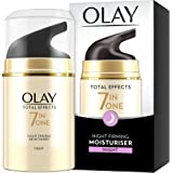 Olay 7-in-1 Total Effects Anti-Ageing Night Cream Firming Moisturiser, Fights The 7 Signs of Ageing for Radiant Skin, 50 ml