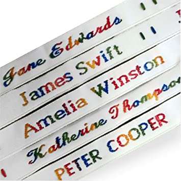 Woven Name Tapes / Labels / Tags for School Uniform, Nursing Homes, Choice  of Colours & Styles- - TO SEND PRINTING DETAILS - TO SEND NAME/COLOUR/STYLE