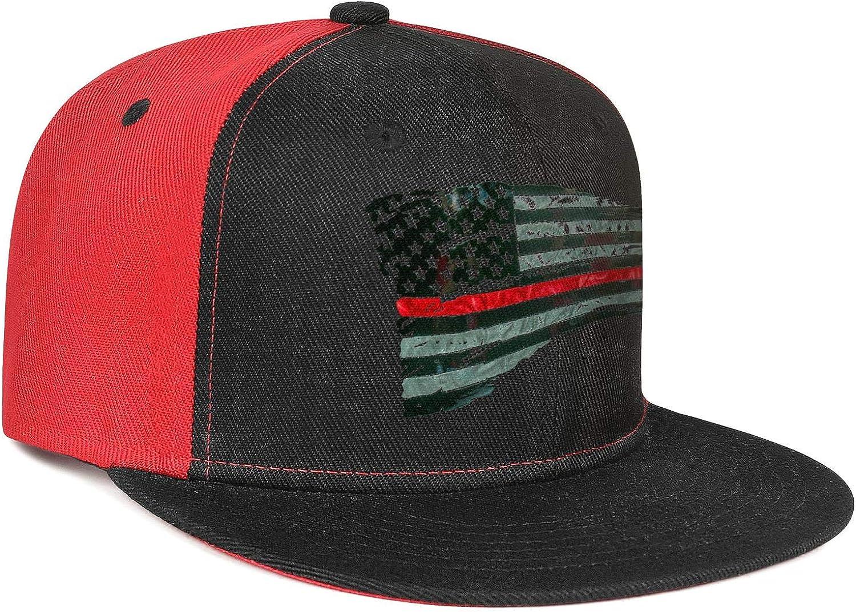 KYTKYTT Unisex Mesh Snapback Caps Waving Note American Flag Flat Hip Hop Baseball Hats