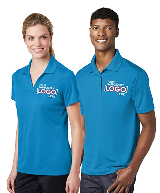 custom embroidered polos - design your own