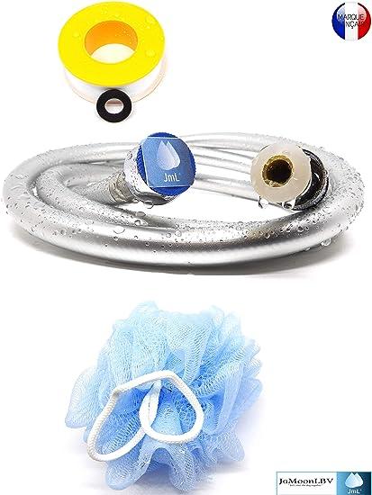 prodotto in Germania con attacco universale standard e superficie antibattericaTubo flessibile per doccia in argento liscio con protezione antirotazione. Tubo doccia di alta qualit/à di SHP