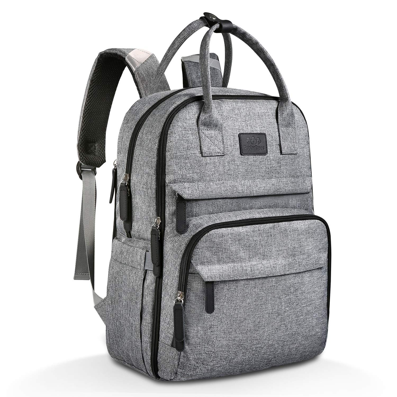 Diaper Bag Backpack, PoplarTrees MultiFunction Mom Large Cap