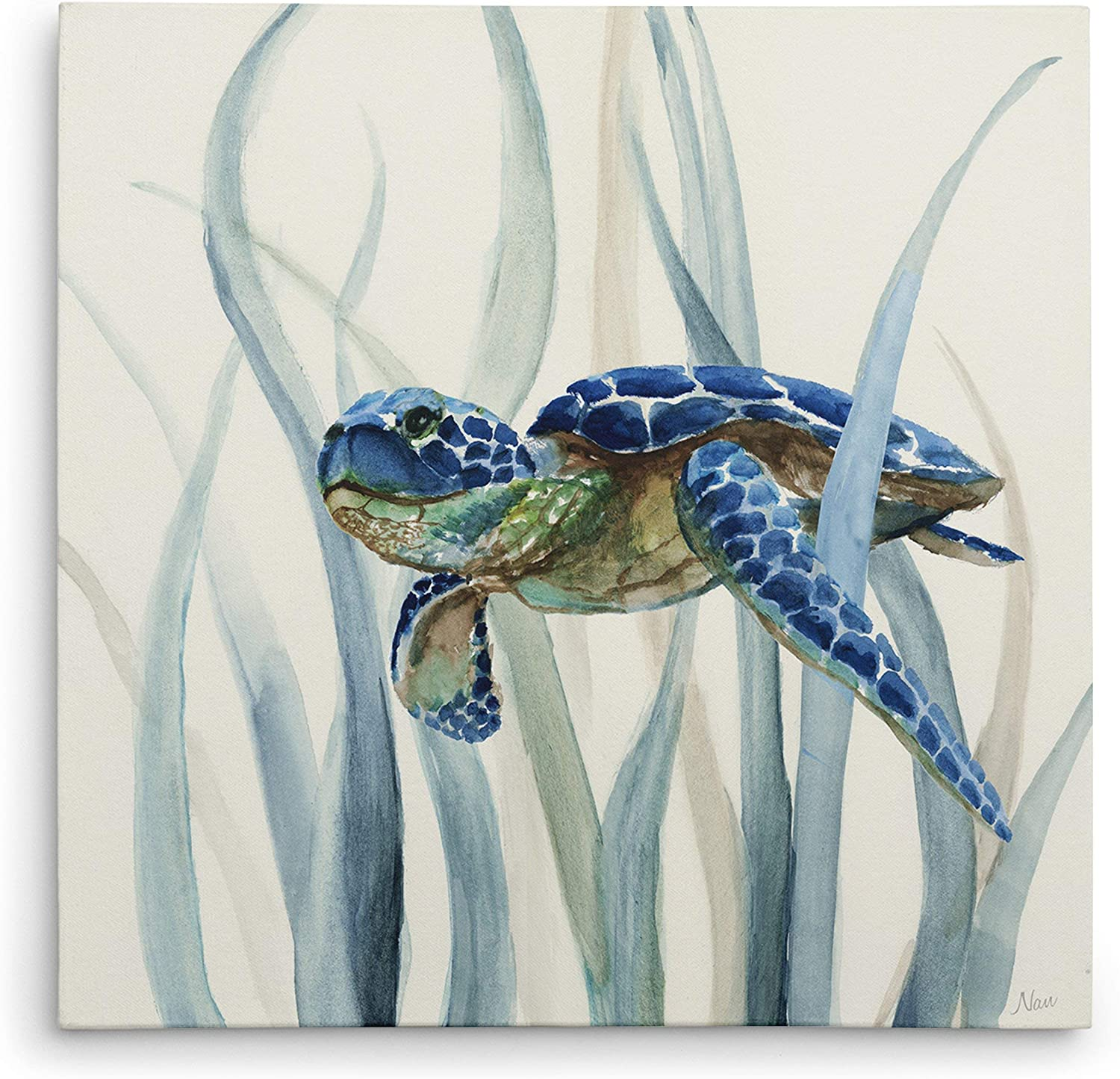 WEXFORD HOME Turtle in Seagrass II Gallery Wrapped Canvas Wall Art, 32x32
