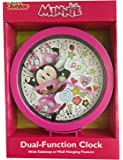 """Disney Junior Minnie Mouse 6"""" Tabletop or Wall Dual Clock"""