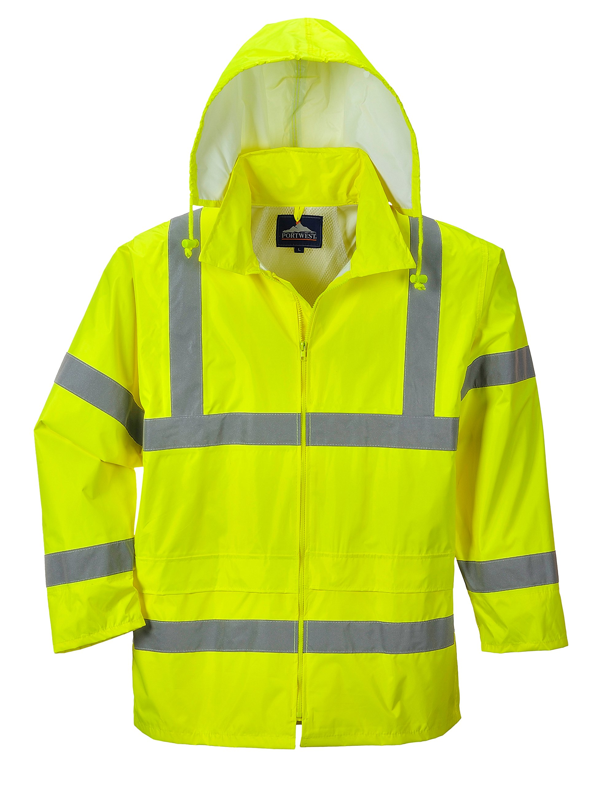Portwest Waterproof Rain Jacket, Lightweight, Yellow, Large