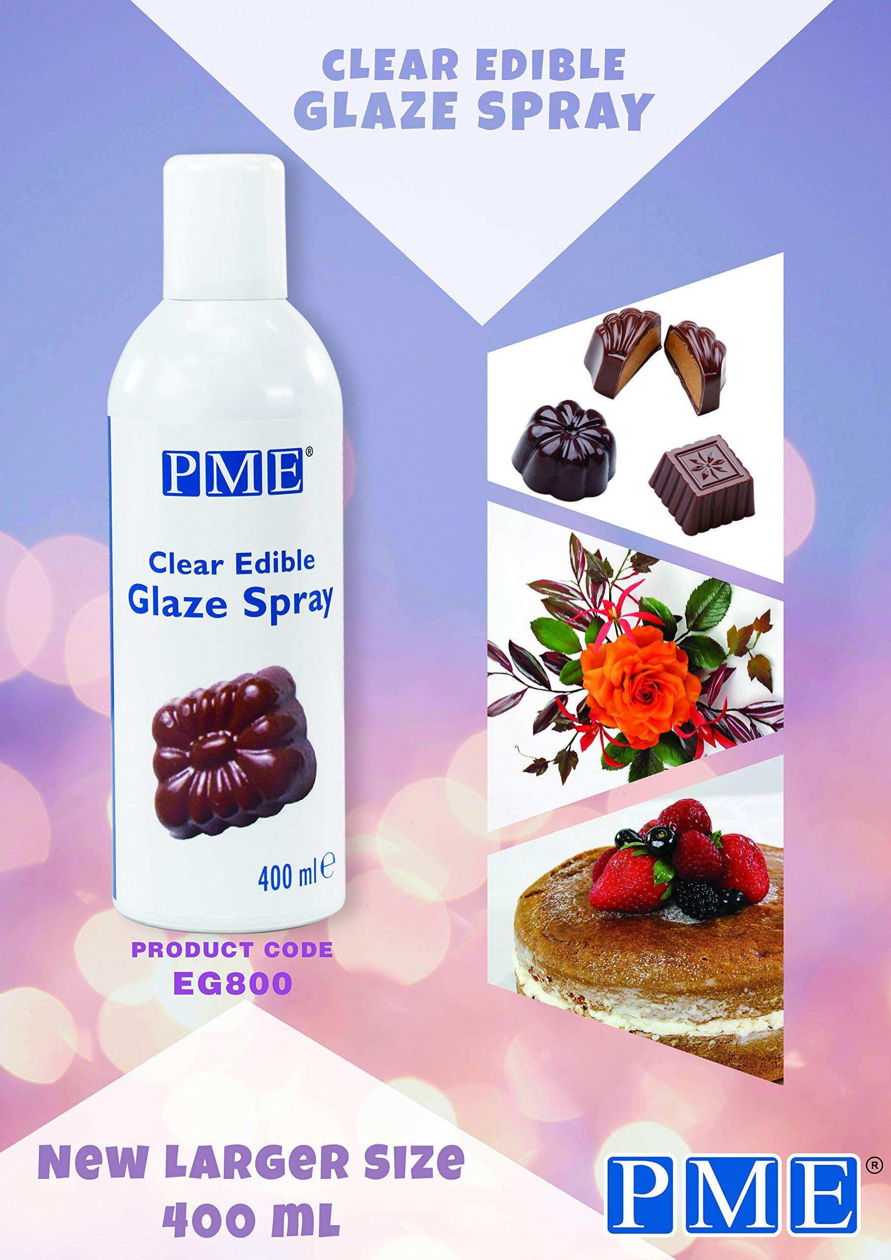PME Clear Edible Glaze Spray - Tall Can 13.5 ounce