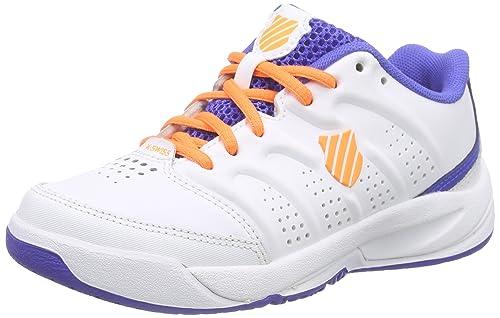K-Swiss Performance Ultrascendor Omni Jr - Zapatillas de tenis Niños, Blanco - Weiß (WHITE/ELECTRICBLUE/ORANGE), EU 28.5: Amazon.es: Zapatos y complementos