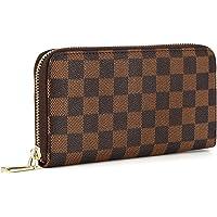 Daisy Rose Women's Wallet on Sale PU Vegan Leather Clutch Handbag RFID Zipper Organizer Card Holder