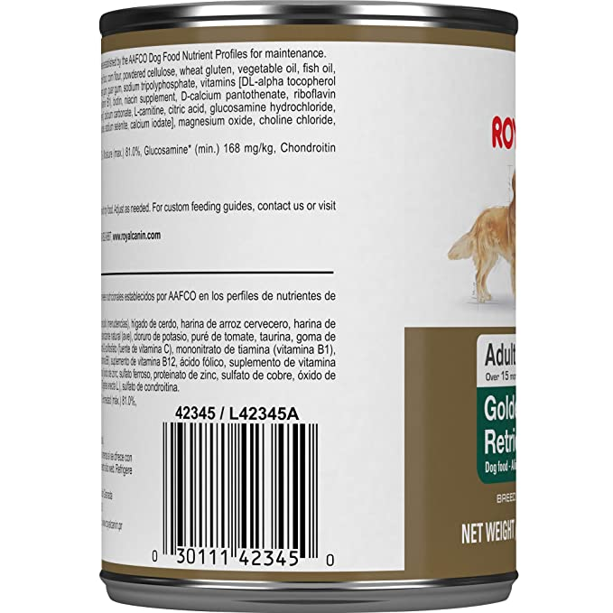 Royal Canin Breed Health Nutrition Golden Retriever Loaf In Sauce Dog Food, 13.5 Oz: Pet Supplies: Amazon.com
