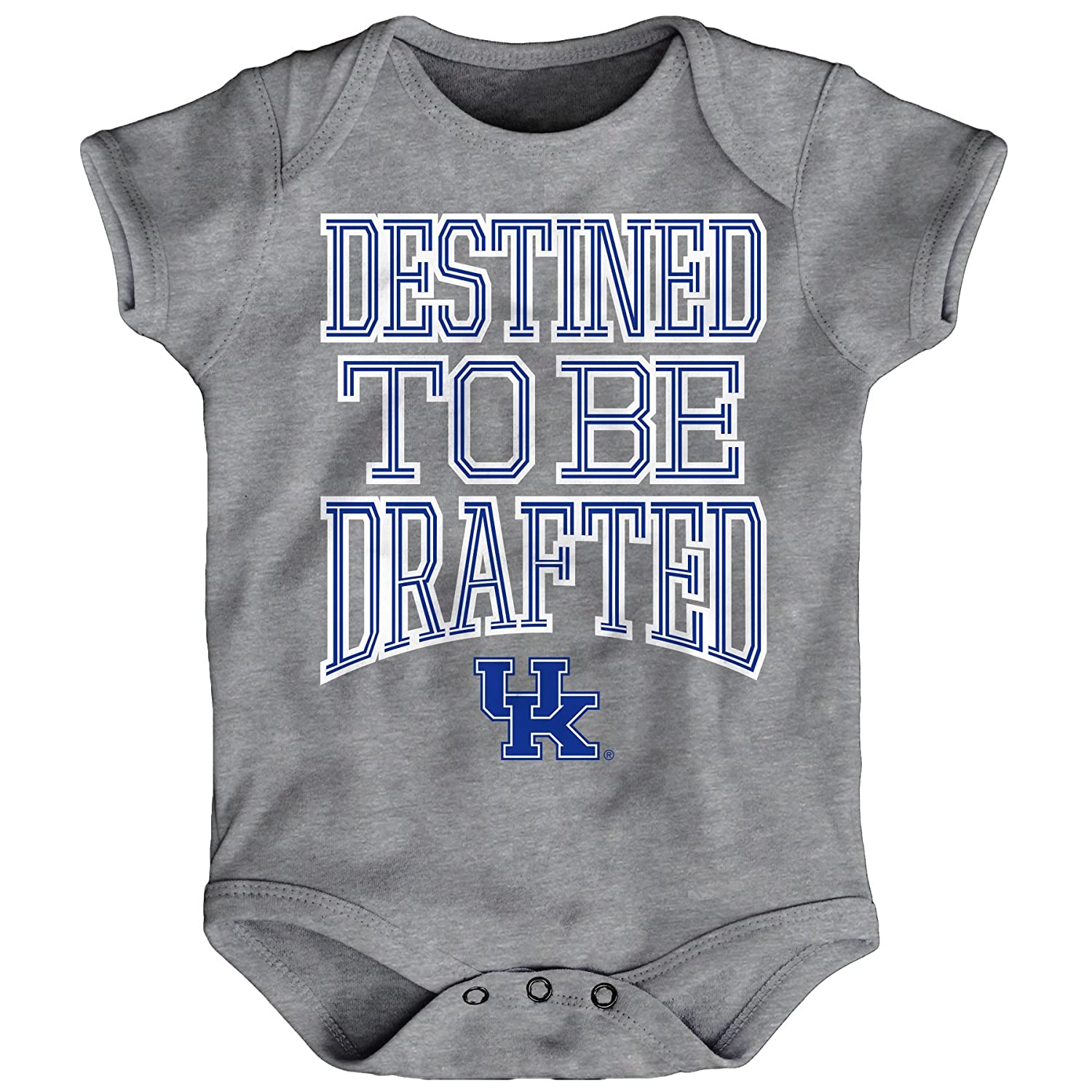 NCAA by Outerstuff NCAA Kentucky Wildcats Newborn /& Infant Destined Short Sleeve Bodysuit 24 Months Heather Grey