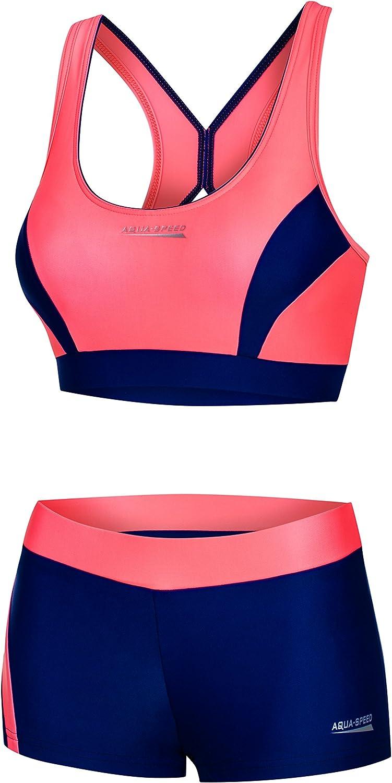 Bikinis for Women I Fiona Two Piece Swimsuit Fitness I sportliche Bademode f/ür Frauen I Schwimmbikini Sport I Zweiteiler I Bustier I Schwimmbad I Pool Aqua Speed Bikini Set Damen