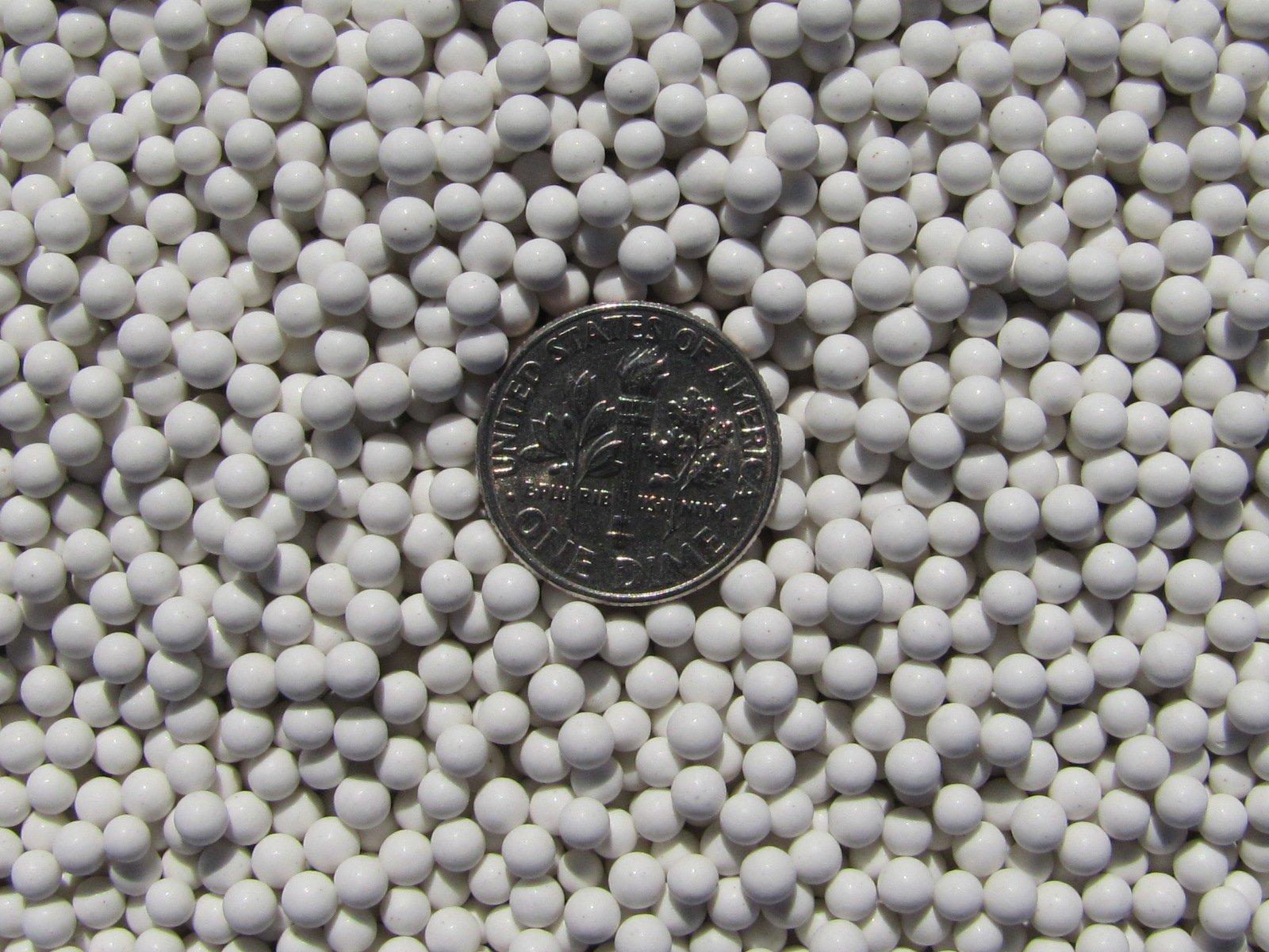 6 Lb. 3 mm Polishing Sphere Ceramic Porcelain Tumbling Media Non-Abrasive