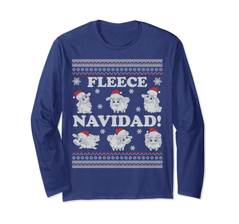 Fleece Navidad Funny Sheep Ugly Christmas Sweater-Colonhue