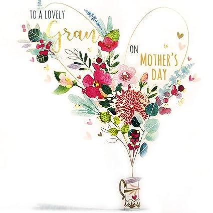 Tarjeta del día de la madre - jarra floral - 6.25 x 6.25 ...