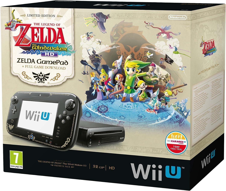 Nintendo Wii U - Consola 32 GB, Color Negro, Premium Pack + Zelda: Wind Waker HD: Amazon.es: Videojuegos