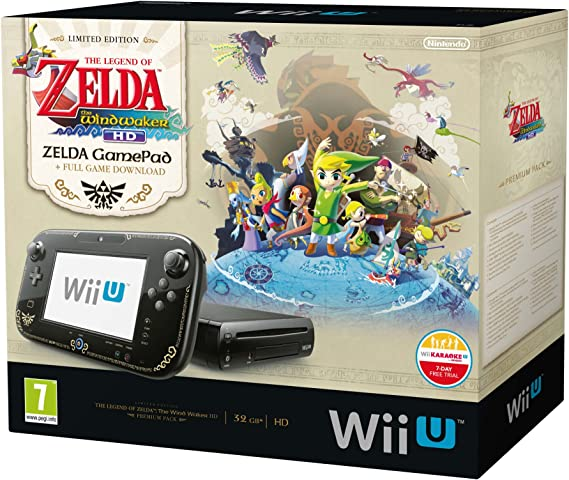 Nintendo Wii U - Consola 32 GB, Color Negro, Premium Pack + Zelda: Wind Waker HD: Amazon.es: Videojuegos