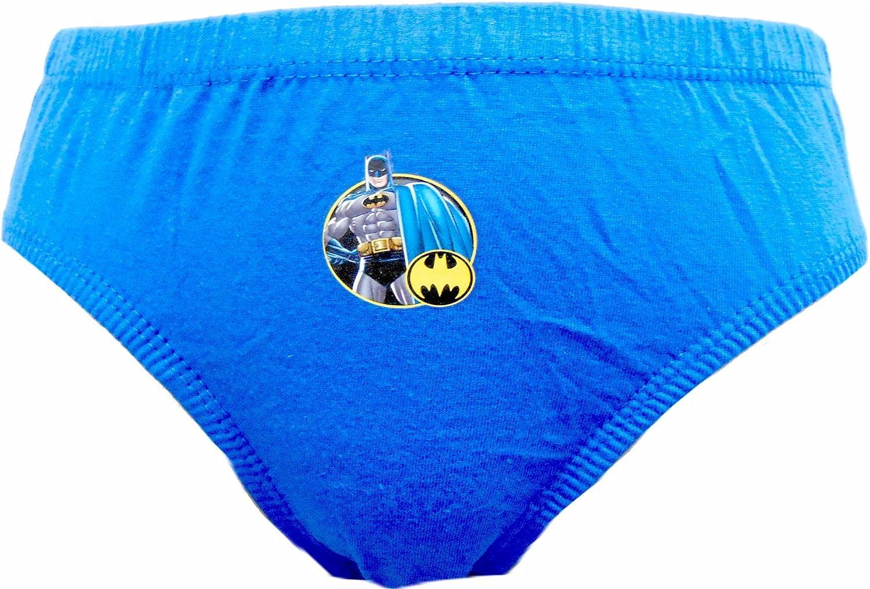 Batman Logo Boys 6 Pezzi Slip//Mutande