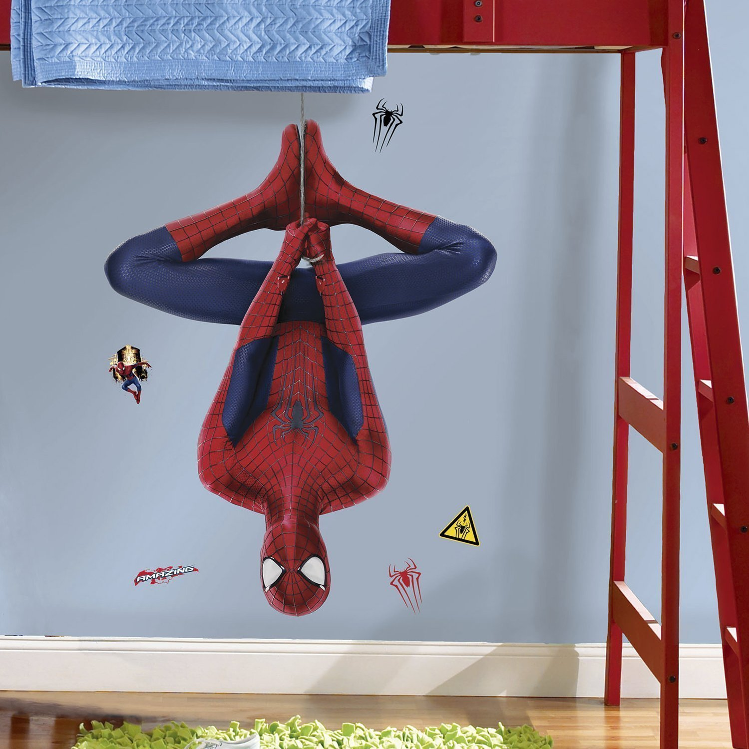 Marvel Superheroes Comic - The Avengers - The Amazing Spiderman Web Slinging Giant Wall Decal Sticker by Marvel Movies (Image #2)