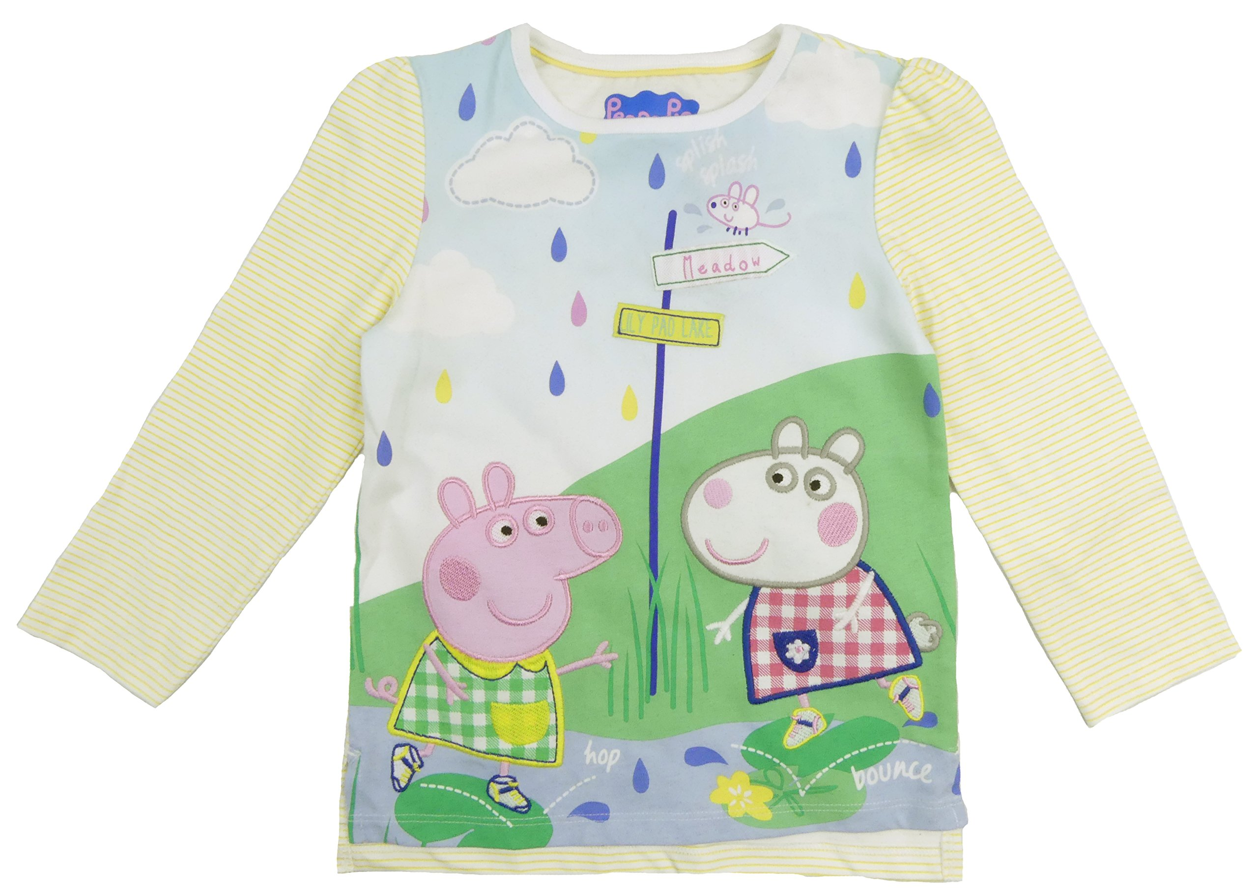 Peppa Pig Suzy Sheep Long Sleeve Summer Top Cotton Toddler Sizes (4-5 Years)