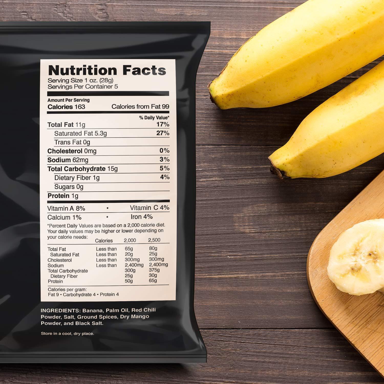 Nana Chips Unsweetened Banana Chips - Hot -10 Pack Snacks - Organic, Vegan,  Gluten-Free,