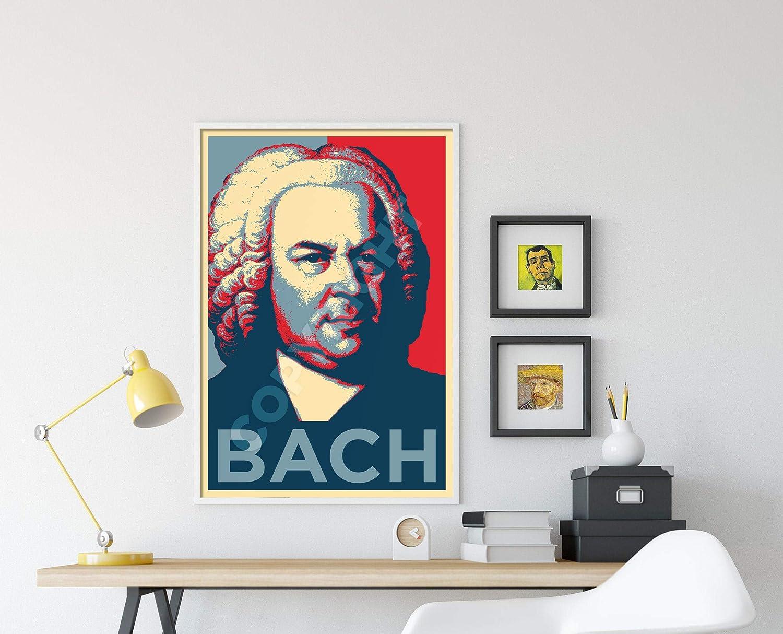 Parodie Obama Hope Poster Photo Glac/é Cadeau 30x20 cm affiche 30 x 20 cm. Johann Sebastian Bach Art Print