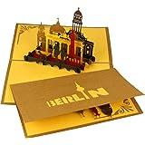 "3D Pop Up Karte ""Berlin Skyline & City Life"" - Berlin Panorama Karte - Berlin Souvenir, Reisegutschein, Einladungskarte & Geschenkgutschein Städtetrip Berlin, Berlinkarte"