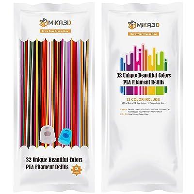 32 Colors 2.85mm 3D Printing Pen PLA Filament Pack
