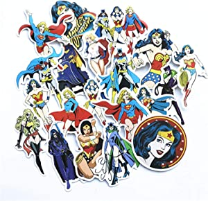 20pcs/lot Super Girl Wonder Woman Stickers for Skateboard Laptop Luggage Fridge Phone Toy Styling Home Doodle DIY Sticker
