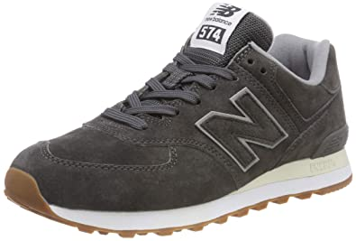 on sale 2a37d 29f57 Amazon.com: New Balance Men's 574 Suede Trainers, Grey: Shoes
