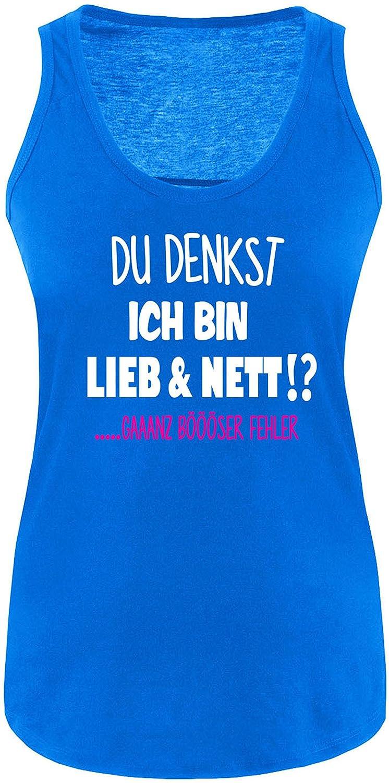 EZYshirt Du denkst ich bin Lieb & Nett...gaaaaanz bööööööser Fehler Damen  Tanktop: Amazon.de: Bekleidung