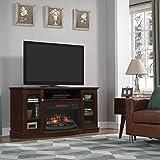 ChimneyFree Walker Infrared Electric Fireplace Entertainment Center in Espresso